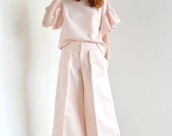 Light pink culottes