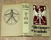 A Dictionary of Symbols - Vintage Esoteric Book -  Full Page Illustrations - Hardbound with Dust Jacket