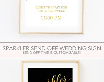 Sparkler Send Off Sign, Sparkler Send Off Wedding Sign,  Wedding Sparkler Send Off, Wedding Sparkler Sign (FS4)