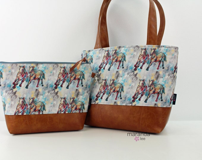 On Your Mark  -  Tote and Clutch  Original Artwork Collaboration with KPotter Fine Art - LIMITED EDITION  - Ready to SHIP