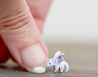 Tiny micro lilac dragon - OOAK collectors miniature dragon