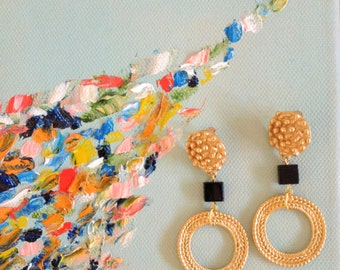 Greek like Statement Earrings, dangle Earrings, beaded earrings,wedding earrings,big earrings, chunky earrings, ring earrings,bohemian