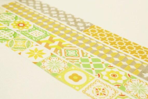 Constantinople - Japanese Washi Masking Tape Set - 2 rolls - 7.6 Yard (each roll)