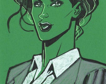 She-Hulk Postcard Sketch