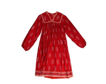 Gorgeous Red Indian Gauze Dress
