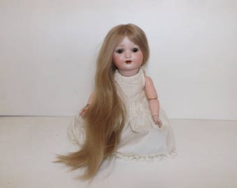 "Antique Armand Marseille doll Bisque head composition body German 18"" tall with beautiful long hair"