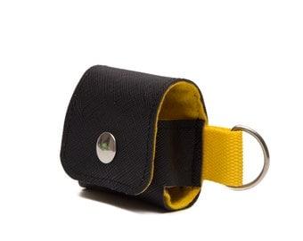 AirPods Case, pouch, Earphones carrying Cover. Belt Loop. Keychain Loop. Vegan. WeirdOldSnail