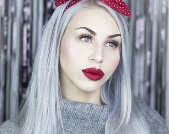 Red With White Star Wire Headband - Christmas - Winter