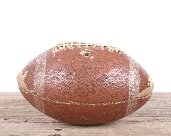 Vintage Football / Football Decor / Old Football / Antique Football / NFL Football / Unique Mens Gift / Game Room / Sports Room Decorations
