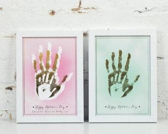 Personalised Family Metallic Handprint Art Print