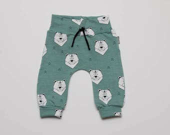 Babypants Icebear Green (choose pants harem or legging)
