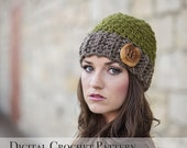 Crochet Pattern / Hat Pattern / The Jack and Jill Beanie Hat Pattern 029 / Women's Hat Pattern / Children's Hat Pattern / Gift for Her