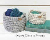 Crochet Pattern / Crochet Easter Basket Pattern / Crochet Storage Basket with Handles / DIY Crochet Pattern / Crochet Gift Basket Pattern