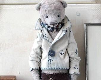 Bear Teddy Hans 9 inch OOAK 22 cm