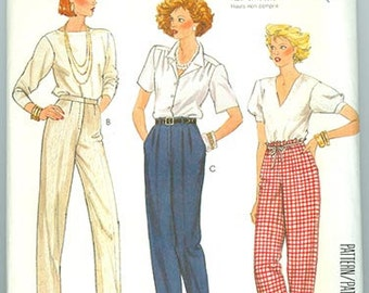 McCall's Pattern 2494 Pants Vintage 1980's NEW Women Misses Size 12