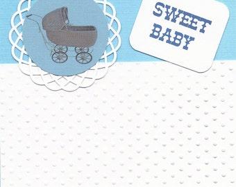 Handmade Baby Boy Greeting Card