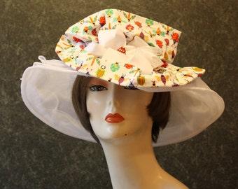 NEW LOWER PRICE! Kentucky Derby Hat, Garden Party Hat, Tea Party Hat, Easter Hat, Church Hat, Wedding Hat, Derby Hat, hat  White Hat 396