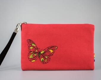SALE - Embroidered Clutch / Purse / Bag / Pouch