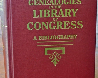 Vintage GENEALOGIES in The LIBRARY of CONGRESS Bibliography Volume I  A-J, Marion J. Kaminkow Copyright 1972 1st Printing 2001 Exc Condition