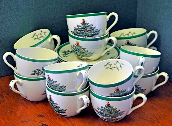 Vintage 14 Copeland/Spode Cups & Saucers Ca 1938-57 Earliest Mark S3324 Excellent Vintage Condition No Chips or Cracks