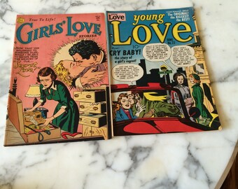Girls Love and Young Love Comic Book Magazines