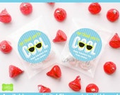 Sunglasses Valentine Stickers - Valentine Favor Stickers - Valentines Day Stickers - Valentine Gift Stickers - Digital and Printed