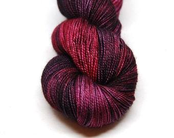 """Fingering Weight, """"No Quarter"""" Merino Wool Superwash Yarn, 4 oz, machine washable yarn"""