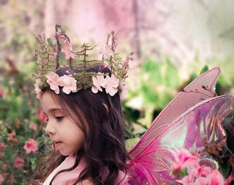 Girls Spring Fairy Crown