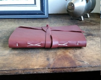 Slim Leather Journal, Red Wine 4.5 x 6 Journal by The Orange Windmill on Etsy 1736