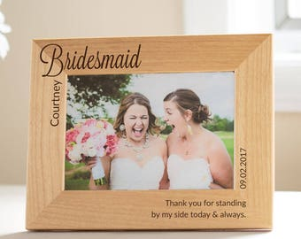 Personalized Bridesmaid Picture Frame: Personalized Bridesmaid Gift, Best Bridesmaid Gifts, Unique Bridesmaid, Bridesmaid Thank You Gifts
