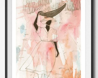Day 040 'Carrying Sugar Cane' Large ART PRINT Home Decor bedroom girls room