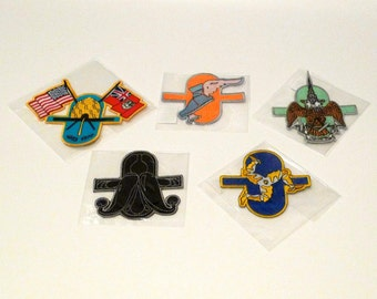Matthew Barney Patch Set (5) Embroidered Cremaster Cycle Patches Contemporary Video Art Movies Artist Sculpture Original Museum Package New