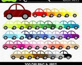 50% OFF  Car Digital Clipart - Rainbow Car Clipart - Automobile Clipart - Car Graphics - Personal and Commercial Use
