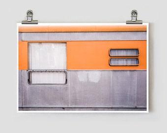 Tangerine Trailer Marfa Texas Modern Fine Art Photograph
