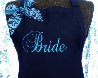 Personalized Apron Bride Chef Gourmet Monogrammed