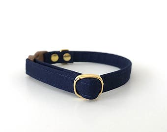 Navy Breakaway Cat Collar