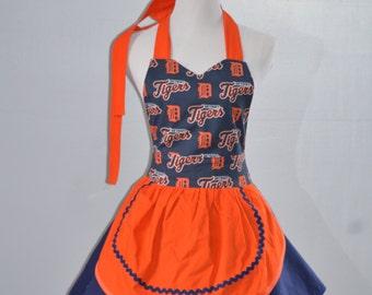 Detroit Tigers Apron, Tigers Apron, Cute Aprons,Cooking Aprons, Baseball Apron