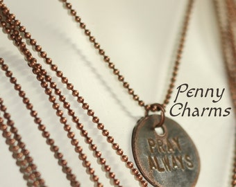Penny Charms | Custom Word Charms | Extra Charms For Penny Necklaces | Penny Keychain | Bulk Order Discounts