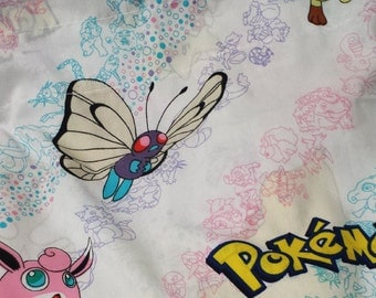 Vintage 90s Pokemon Valance - decor or reclaimed fabric for DIY!