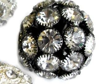 Assorted Style Rhinestones Ball-Beads  _size 23 to 29mm _4 Pcs set