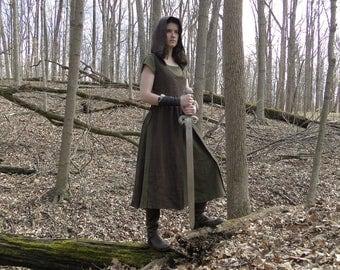 Medieval Hooded Overdress, Renaissance Fair - Choose Size & Color - HUNTRESS