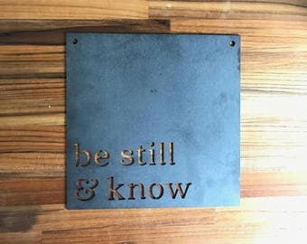 be still and know home decor wall metal signs home decor housewarming - Metal Signs Home Decor