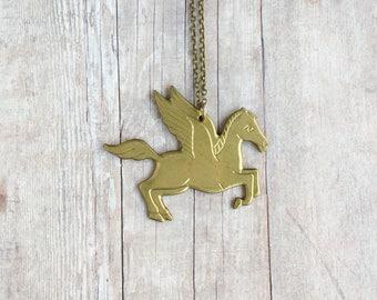 Pegasus Necklace Winged Horse Greek Mythology