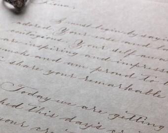 Letter the Bride Letter to the Groom Love Letter Anniversary Gift Handwritten