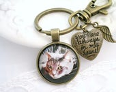 Photo Key Chain Father's Day Gift Custom KeyChain Pet Memory Always in My Heart New Car Gift for Him New Home Gift Handwriting Keychain gift