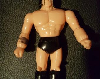 1980's rare M.U.S.C.L.E. wrestling figure from Japan - Buffaloman - Terri Bull - Kinnikuman wrestler wwf Bandai popy soft vinyl