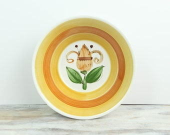 Vintage Serving Bowl, Handpainted Ironstone, Bolero Pattern Made in Japan
