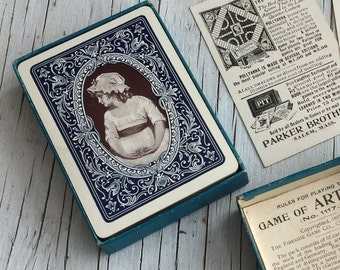 Games for Artists, antique card game from Cincinnati USA. Gift for an Artist. 1997.