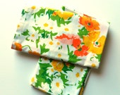 Vintage Floral Pillowcase Set / Standard Size Retro Floral Pillowcase / Garden Floral Pillowcases / Vintage Sheets