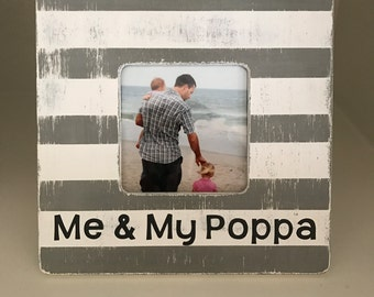 hand painted picture frame made to order in any colors grandpa pops papaw gramps papagifts under 25